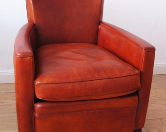 Reissue leather Club Chair model LOUIS
