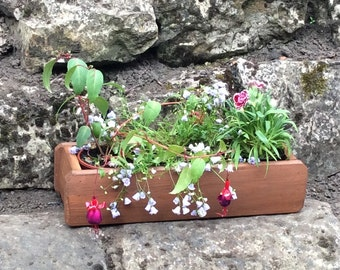 Miniature Compartment Plant Holder, Wooden planters, Garden planter, Outdoor Planters (Free Delivery)