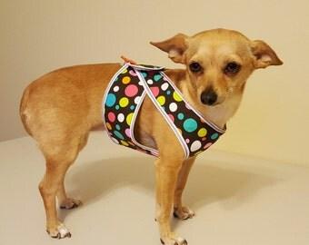 Polka Dot Dog Harness, Dog Harness Vest, Step-in Harness Vest