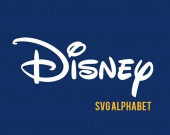 Disney Cut File Alphabet Svg, Disney Svg, use with Cricut & Silhouette