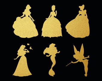Disney Princesses Svg, Disney Svg, use with Cricut & Silhouette