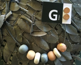 ALICE - Handmade Polymer Clay Necklace by GDesignsJewellery