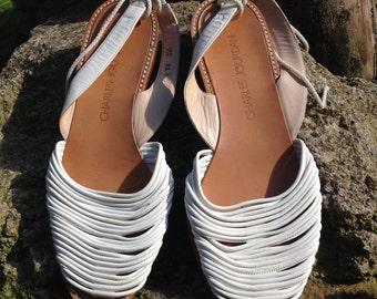 White Charles Jourdan Sandals