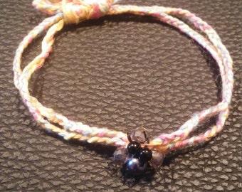 Pastel bracelet with beads