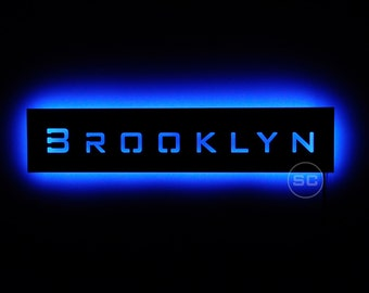 Lighted Brooklyn Sign - Bright LED Sign for New York City's Brooklyn Lovers