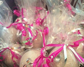 Lavender and Geranium Fizzing Bath Bombs