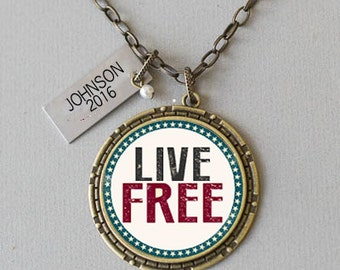 Live Free Pendant Necklace