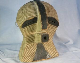 African tribal art kifwebe mask- SONGYE-DR CONGO