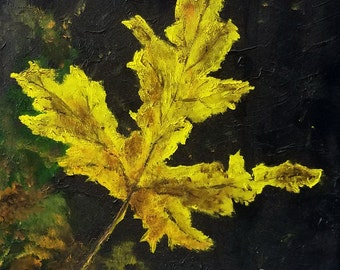 Fall Leaves, Giclee print, wildlife art - nature print of original artwork