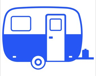 Vehicle window vinyl decal, Fiberglass Boler Trailer