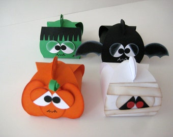 Halloween Treat Boxes-Set of 4 assorted characters