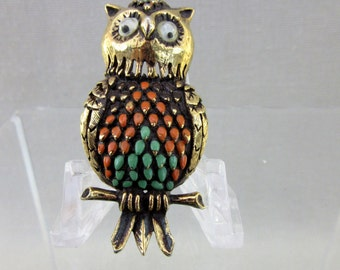 Florenza Owl Pin with Googly Eyes