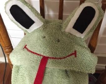 Cartoon Froggy Animal Hooded Bath Towel