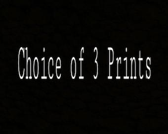 Choice of 3 Prints of Polaroid Drawings