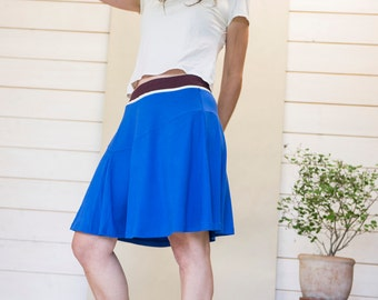Royal Blue skirt 'move it' jersey