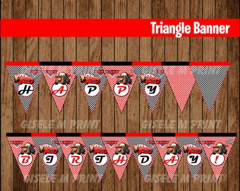 Cars Banner, Printable Cars Triangle Banner, Cars party Banner instant download