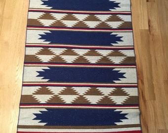 Reversible Greek Kilim-Style Rug, Cotton, 26x46