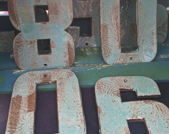 Ceramic House Numbers, Made to Order, Pottery House Numbers, Rustic Numbers, House Numbers, Custom Numbers
