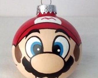 Handpainted Mario Ornament