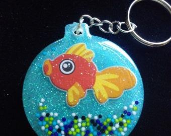 Goldfish bowl keychain