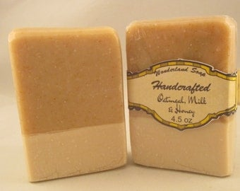 "Handmade ""Oatmeal Milk & Honey"" Handcrafted Artisan Soap"
