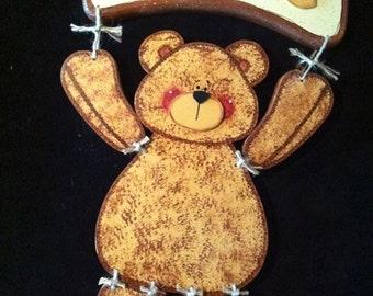 Seasonal Interchangeable Welcome Sign- Bear, Cat or Bunny