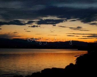 PRINT ENLARGEMENT- Sunset over Windsor Lake