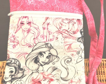 Large  K.I.S.S Wallet on a String - Princess sketches