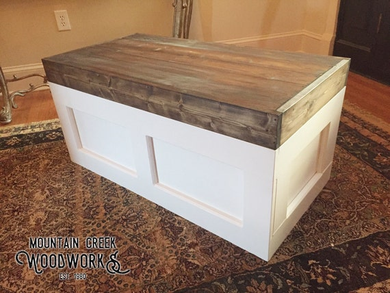 toy chest toy box storage trunk wooden trunk by. Black Bedroom Furniture Sets. Home Design Ideas