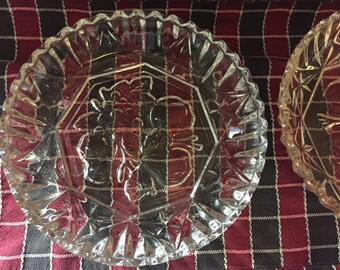Federal glass fruit pattern candy/coaster set