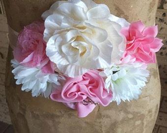 Pink Cream and White Maternity Sash, Wedding Sash, It's a Girl Maternity Sash baby shower sash, pink maternity sash