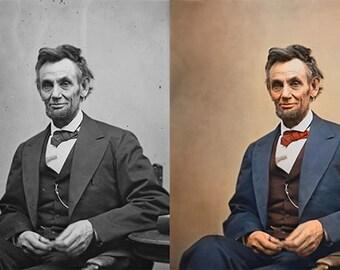 Custom Colorized Portraits