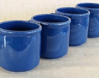 Dallas Ware Melamine Navy Mugs- set of 4