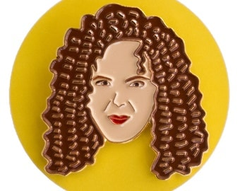 Bernadette Peters enamel lapel pin