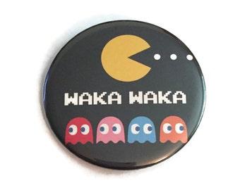 "Button Pin Pac-Man Ghosts Waka Waka Retro Arcade Video Game Pinback Nostalgia 2"""