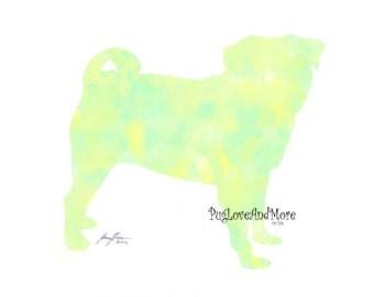 Pug Painting Prints - Set of 3