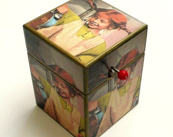 Pippi Longstocking Musical Box. Music Box. Wooden Box. Feminist. Feminism.