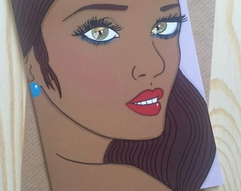 Fashion illustration greeting card