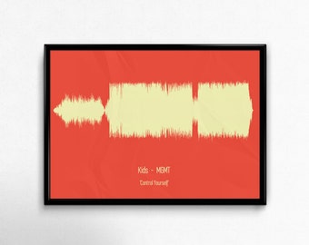 Personnalised song print - Sound wave art - A4 A5 A3