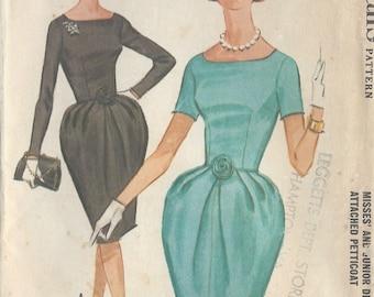 "1962 Vintage Sewing Pattern B31"" DRESS (R362) McCalls 6523"
