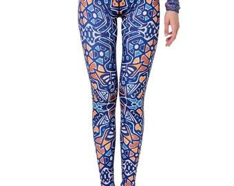 Amber play leggings / Womens Leggings / Yoga Leggings / Yoga Pants / Art Leggings
