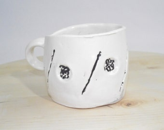 Black & White Stamp Cup