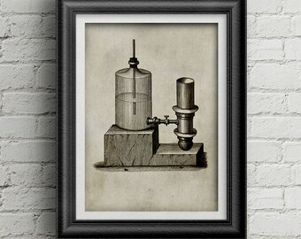 Chemestry Illustration 003 - vintage science print - science equipment - Alchemy illustration