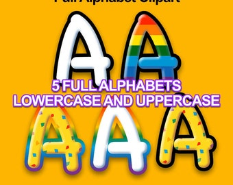 Play Doh - Alphabet Clipart - 379 png files 300 dpi - Play School Letters