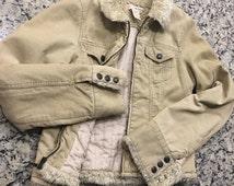 Abercrombie & Fitch Woman's Jacket -  af banana j crew leather fleece coat raincoat winter fall hollister
