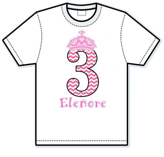 Princess Birthday Girl Children's Hand Painted Shirts
