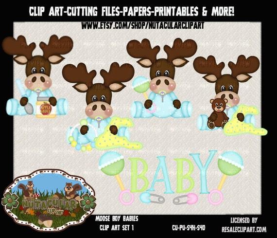 Baby Boy Moose Clipart Moose Boy Babies Clip ...