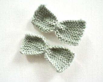 CUSTOM Knit Bow Hair Clips