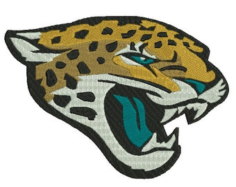 4 sizes Jacksonville Jaguars Embroidery Design, Football Team Logo Machine Embroidery Pattern, Instant Download