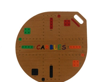 Carbles® Board Game,  Double Sided 4 & 6 Player, Round, Natural Colored